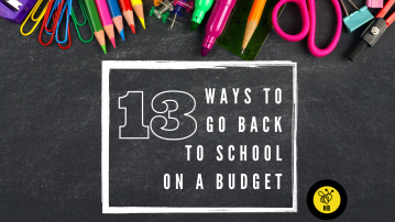 13 Ways to go Back To School  on a Budget