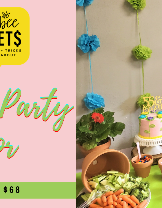Garden Party Decor  on a Budget (Under $68)